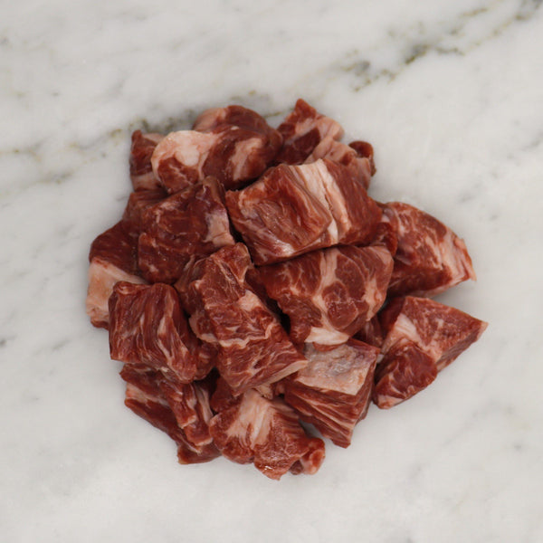 Lamb Neck Fillet Diced Free Range - 500g Map 80mm Vics Meat