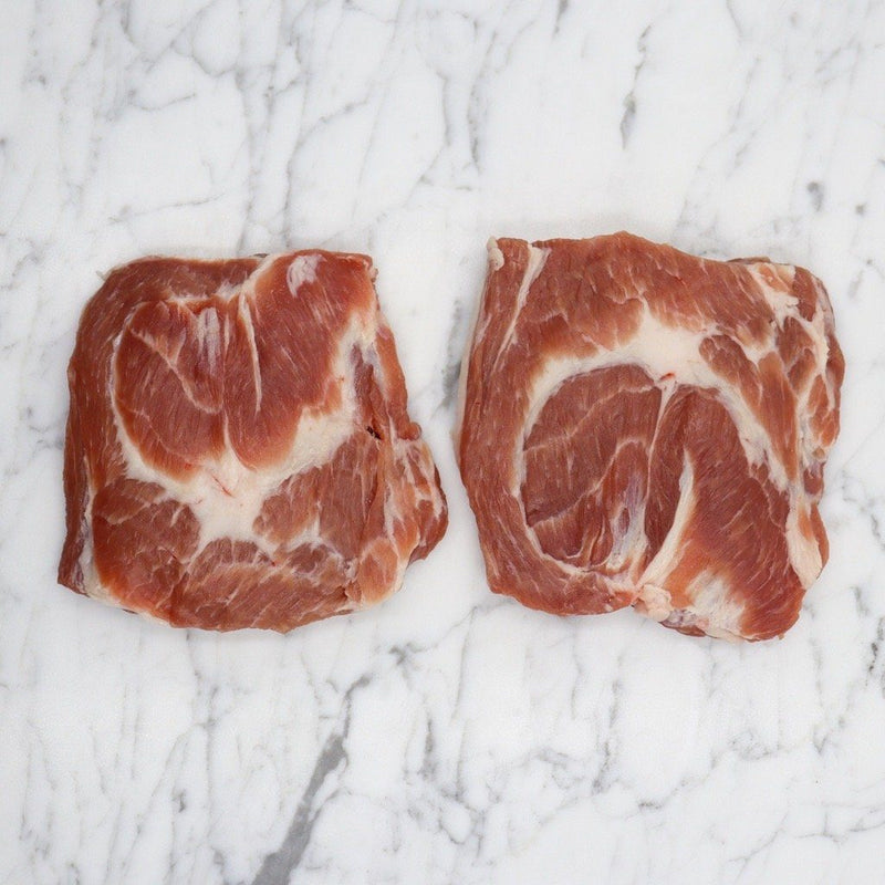 Pork Coppa (Collar) Steak Kurobuta Berkshire - 220g x 2 Pieces Map 60mm Vic's Meat