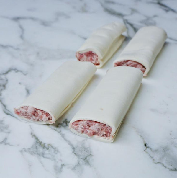 Pork Sausage Rolls (4x pieces approx. 500-700g) Vics Meat