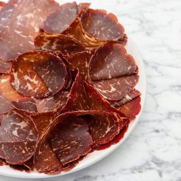 Rangers Valley Black Market Beef Bresaola Marbling Score 5 + - 150g Sliced Original Packaging from Manufacturer Vics Meat