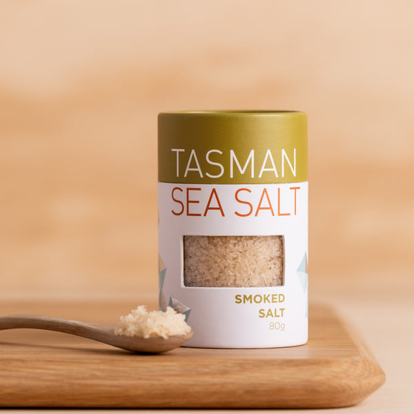 Tasman Natural Sea Salt Flakes Smoked - 80g Vic's Meat