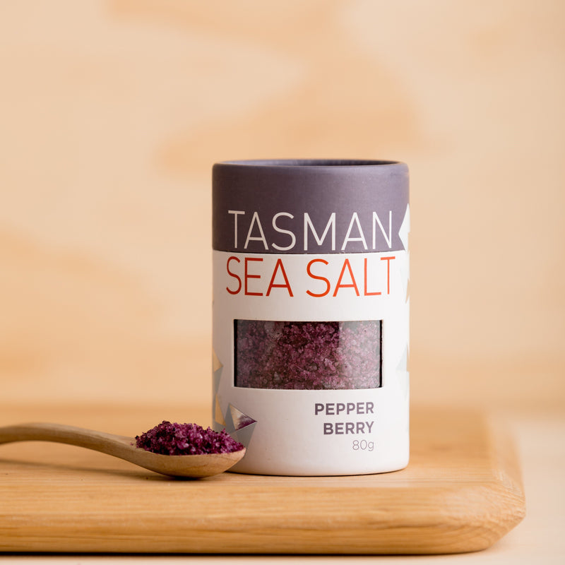 Tasman Natural Sea Salt Flakes with Pepper Berry - 80g Vic's Meat