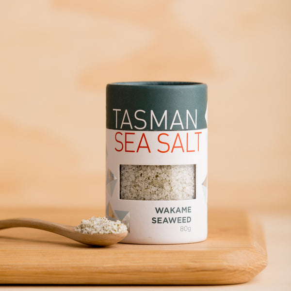 Tasman Natural Sea Salt Flakes with Wakame Seaweed - 80g Vic's Meat