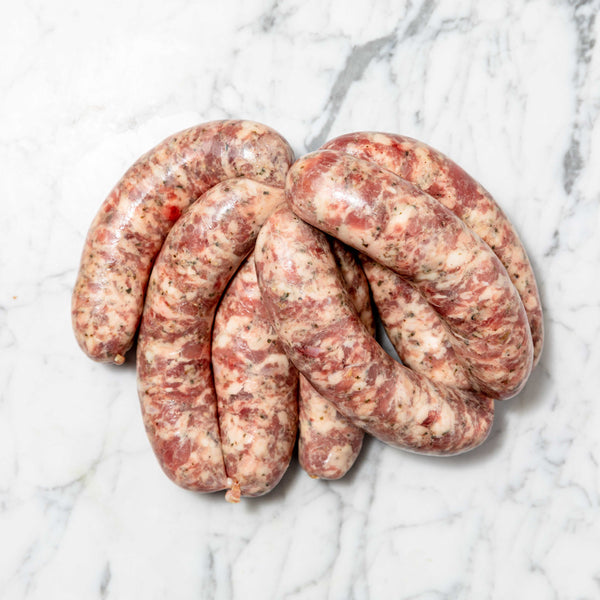 Thick Tuscan Style Sausages - 1kg Map 80mm Vics Meat