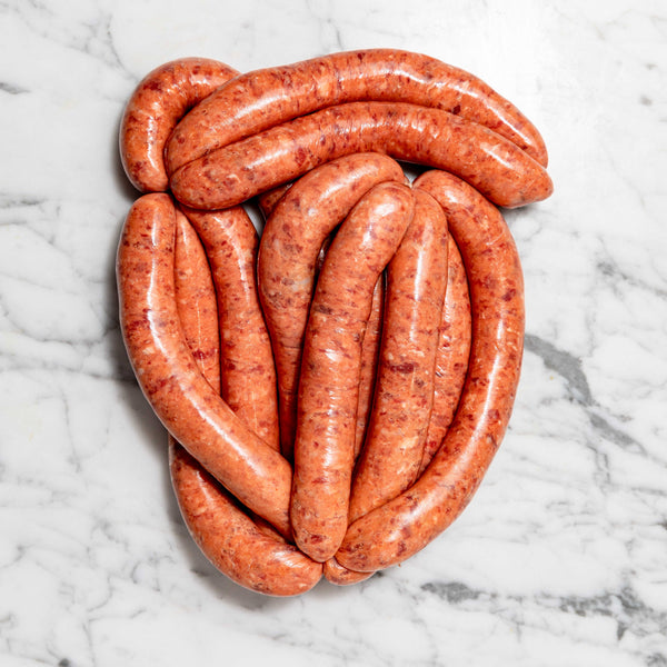 Thin Breakfast Sausages - 1kg Map 80mm Vics Meat