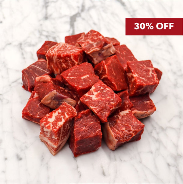 Wagyu Knuckle Diced Marble Score 5+ Rangers Valley - 1.0 kg Vic's Meat