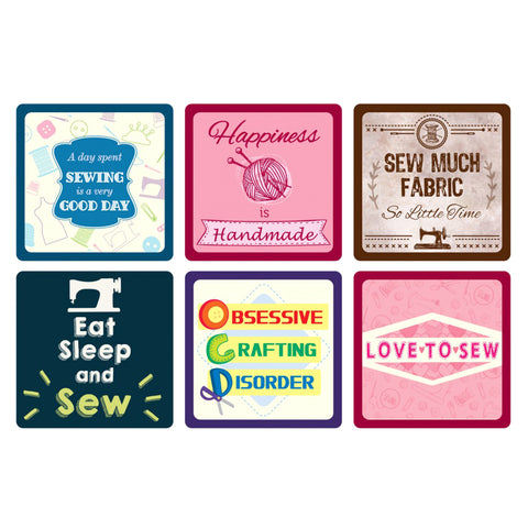 Sewing Themed Coasters-Gifts-Sew Tasty-The Maker's Merchant