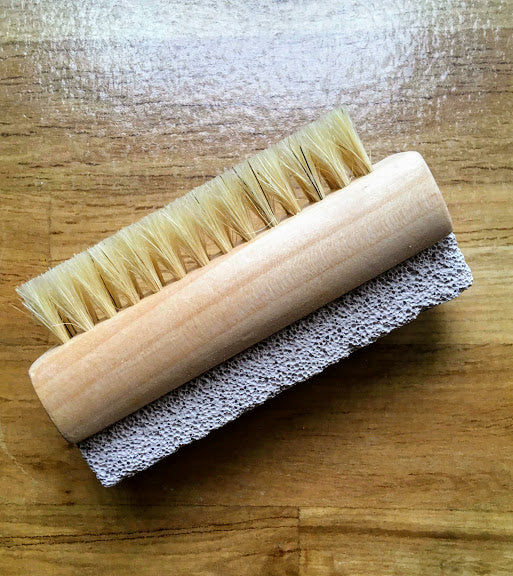 Wooden Pumice Nail Brush