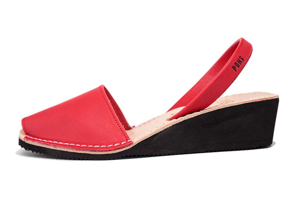Pons Avarcas Wedge Style-Red