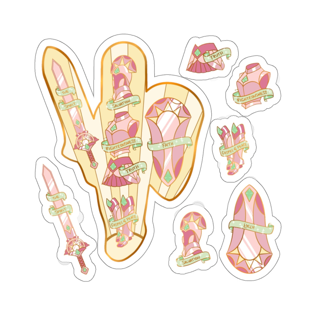 💖 The Whole Armor Of God - Dawn 💖 Sticker Sheet