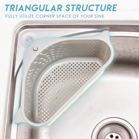 Image of Triangular Sink Drain Shelf Sink Drain Shelf Multi-Purpose Basket - full