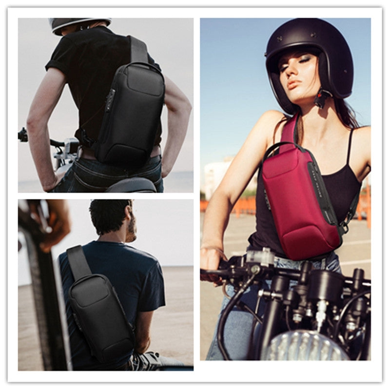 Sling Bag Backpack Sport Travel Cross Body Chest Pack Waterproof Anti-theft Shoulder Bag with USB