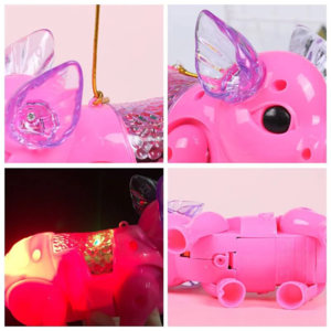 Image of Walking Singing Musical Light Pig Electric Toy - full