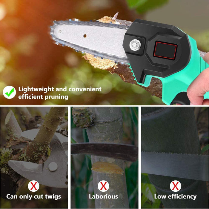 Wood Cutting lithium chainsaw 24V Lithium Battery Portable Electric Pruning Saw Rechargeable