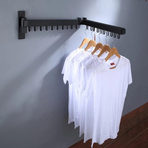 Image of Foldable and Retractable Clothes Drying Racks - full
