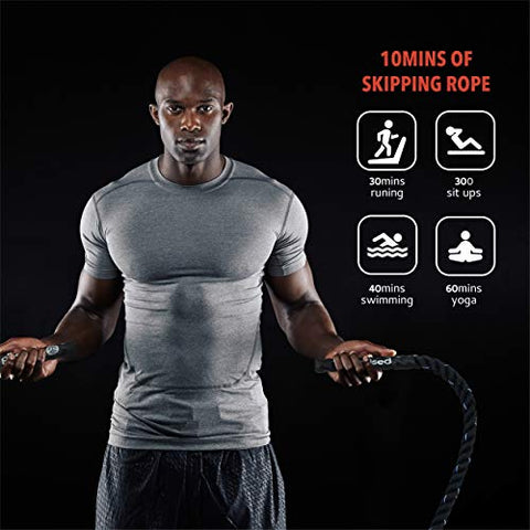 Image of Heavy Jump Rope for Fitness Weighted Jump Rope Adult Skipping Rope Exercise Battle Ropes Total Body Workouts