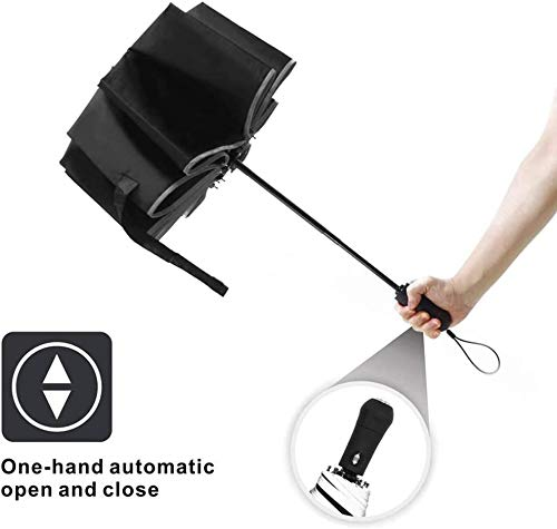Umbrella With Reflective Stripe Led Inverted with Lamp