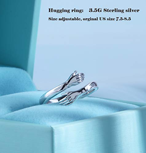 Hug Ring Come to My Arms Open Hand Ring Adjustable Ring