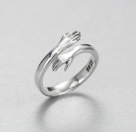 Image of Hug Ring Come to My Arms Open Hand Ring Adjustable Ring