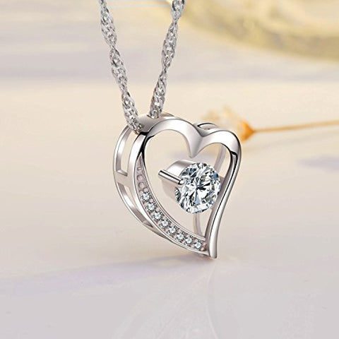 Image of To My Love,Heart Necklaces,Forever Lover |Sterling Silver Love You