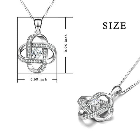 Image of To My Soulmate- Love Knot 925 Sterling Silver Pendant Necklace for Women
