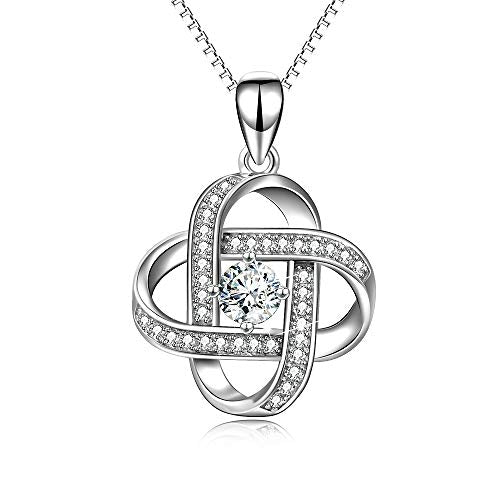 To My Soulmate- Love Knot 925 Sterling Silver Pendant Necklace for Women