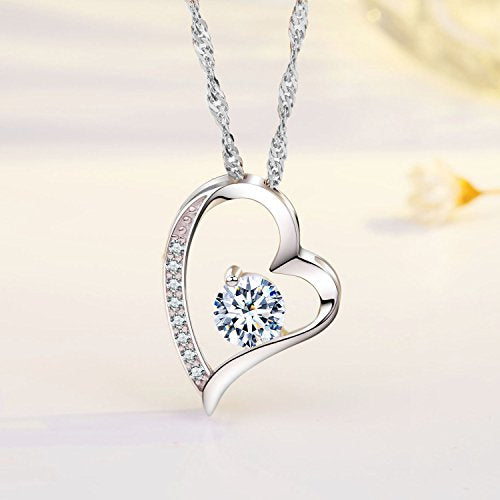 To My Love,Heart Necklaces,Forever Lover |Sterling Silver Love You
