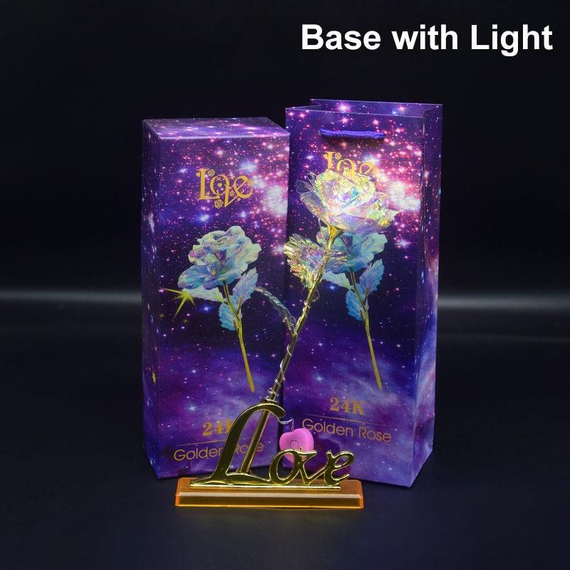 Galaxy Rose with Love Base Anniversary Gift - full