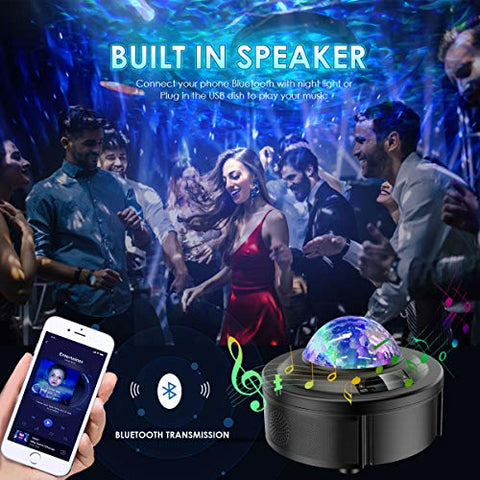 Image of Galaxy Projector Lights for Bedroom Starlight Projector with Bluetooth Speaker