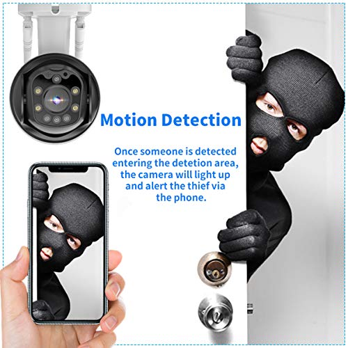 Wireless Security Camera,Waterproof Video Camera Cameras for Home