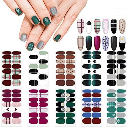 Self-Adhesive Nail Decal Strip ,Nail Polish Decals