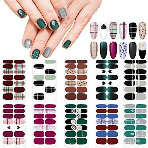 Image of Self-Adhesive Nail Decal Strip ,Nail Polish Decals