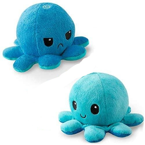 Reversible Octopus Plushie,Octopus Plushie|Show Your Mood Without Saying a Word!