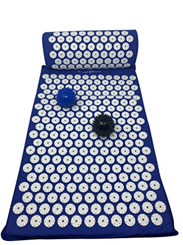 Yoga Mate Acupressure Mat and Pillow Imrpoved Sleep and Less Stress