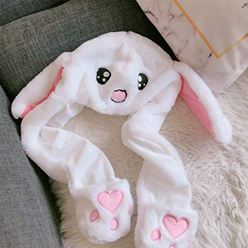 Plush Bunny Hat, Rabbit Cap|Rabbit Ears Hat