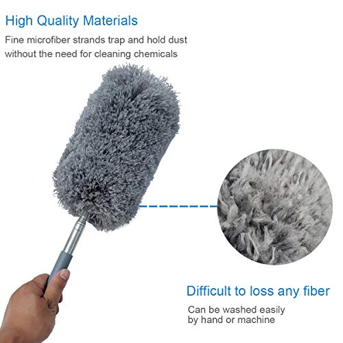 Feather Dusters,Duster| Scratch-Resistant Dusting|Extendable Long Handle Duster