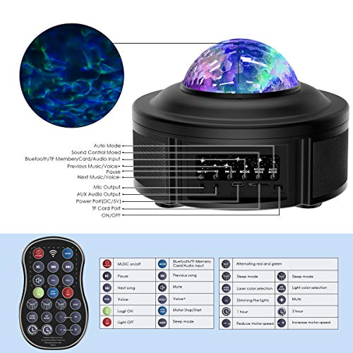 Galaxy Projector Lights for Bedroom Starlight Projector with Bluetooth Speaker