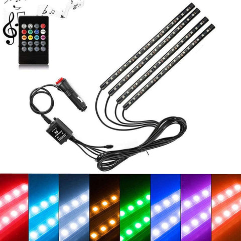 Image of Car Strip Light, Lighting Kits|Under Dash Light|Multicolor LED