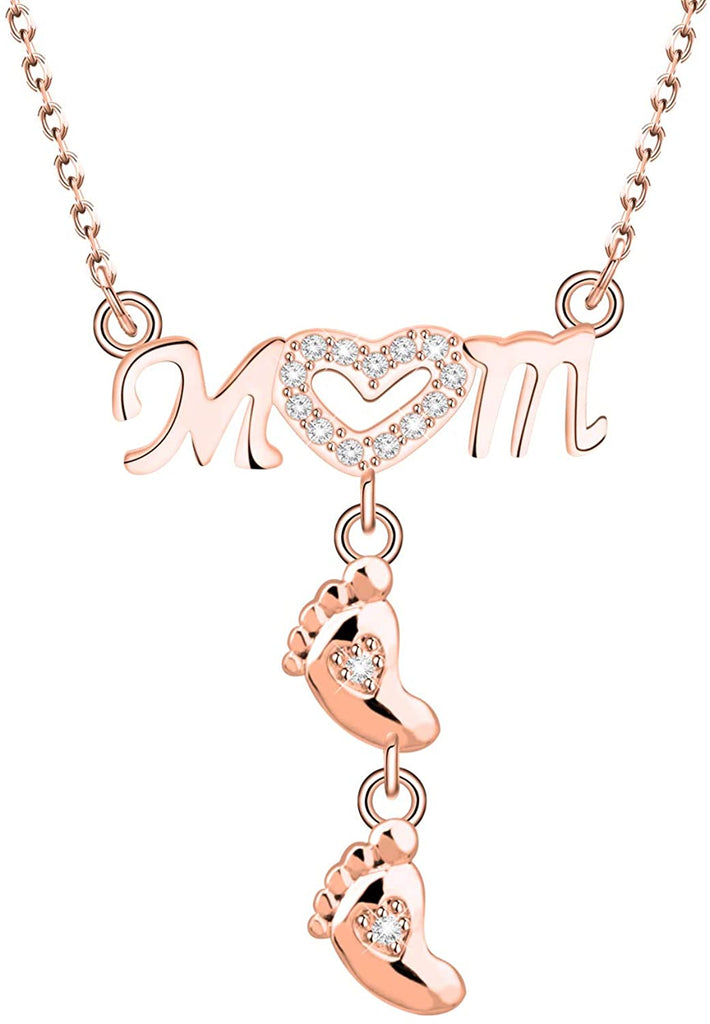 Mommy to Be Gift, Gift New Mom To be |Footprint Necklace