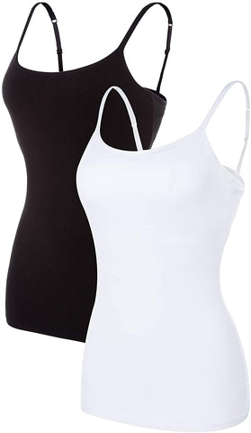 Image of Camisole with Shelf Bra,Strap Tank Tops|Long Length Tank