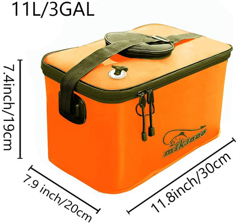 Image of Fishing Bucket,Fishing Bag for Fishing|Folding Bucket