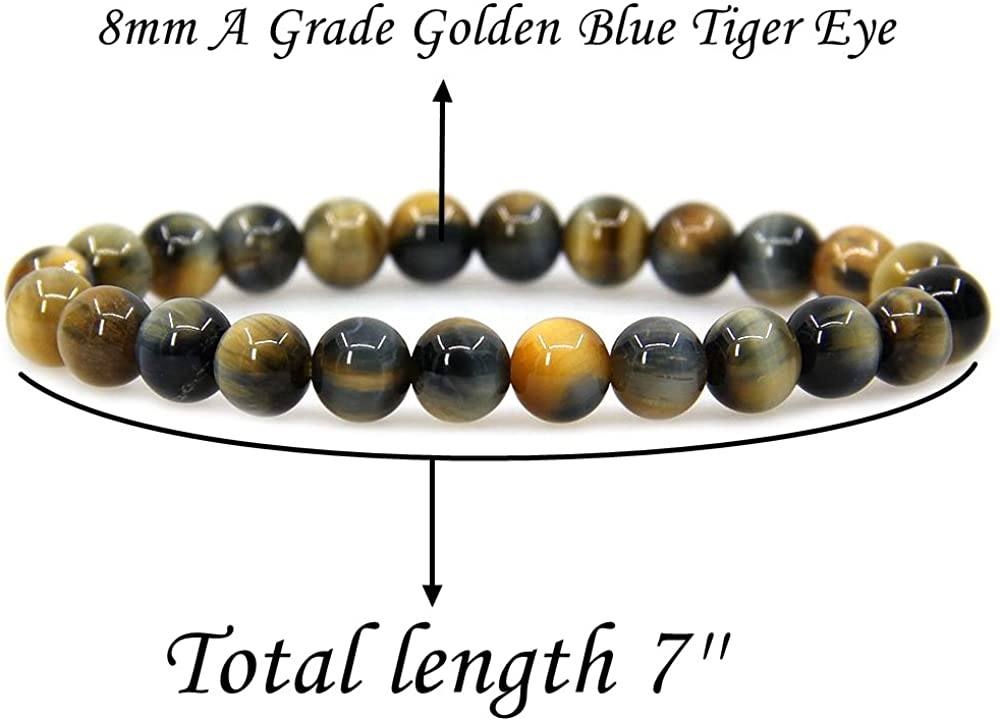 Gemstone Bead Bracelets,Round Beads|Tiger Eye Bracelet