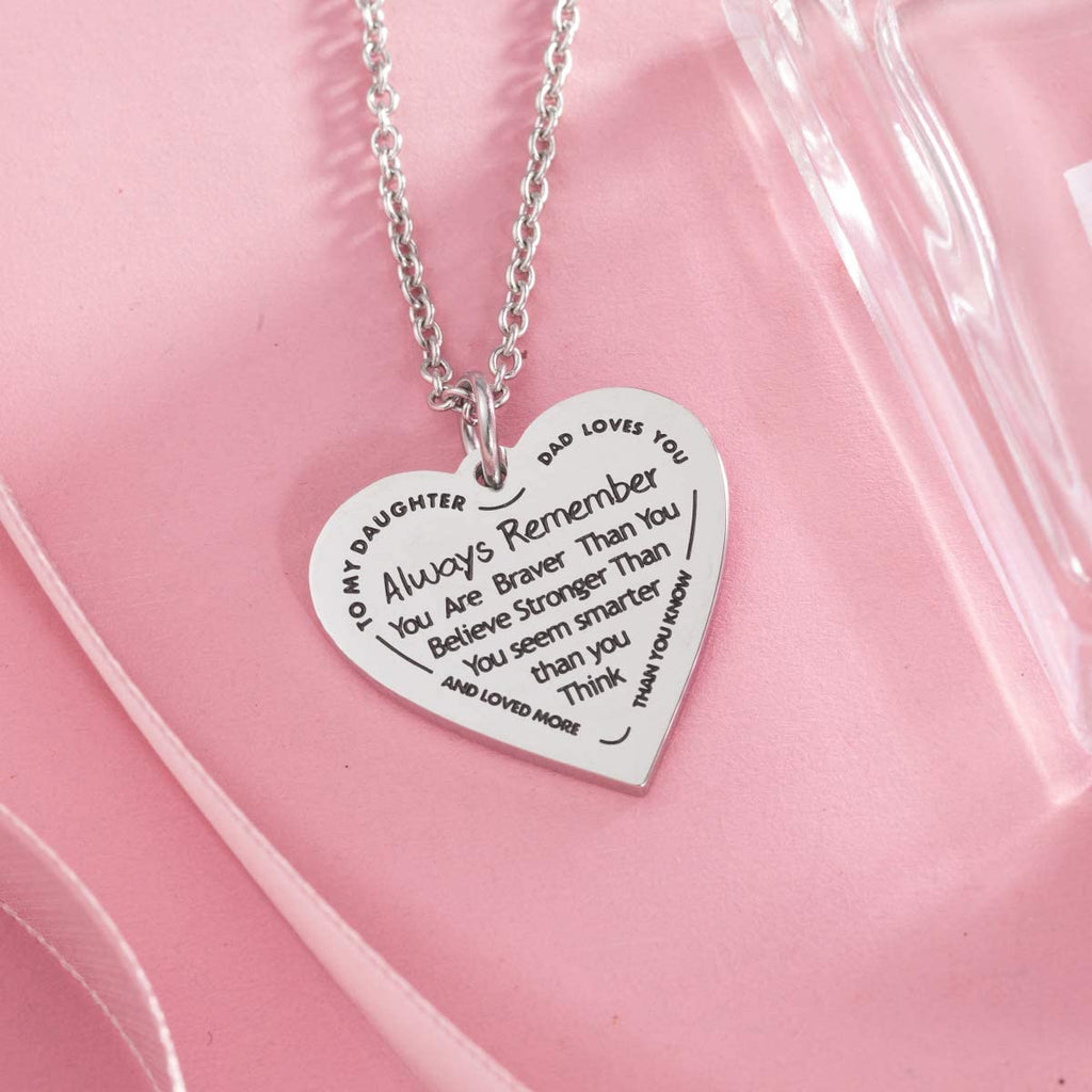 Than You Believe. Heart Pendant|Daughter Pendant
