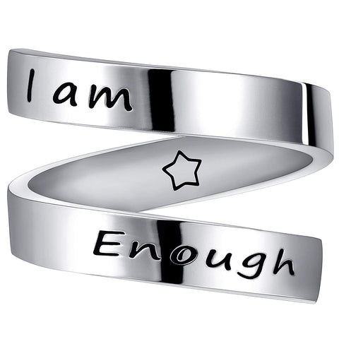 Image of 'I Am Enough' Ring
