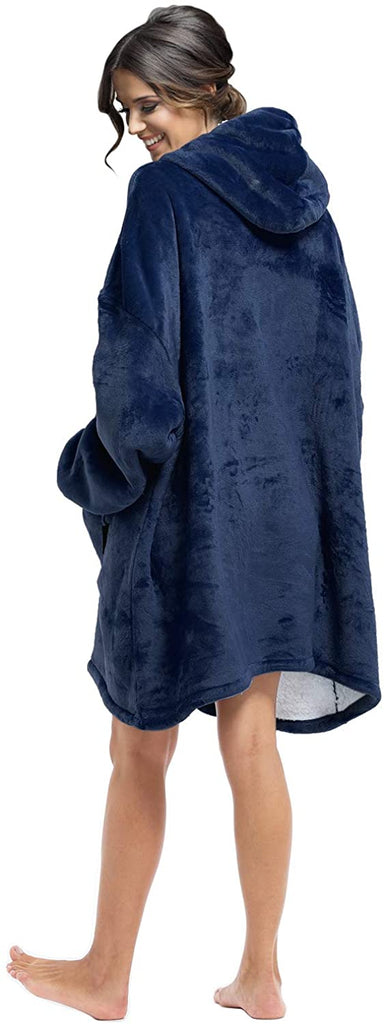 Oversized Blanket Sweatshirt, Blanket Hoodie,Sherpa Lined Hoodies