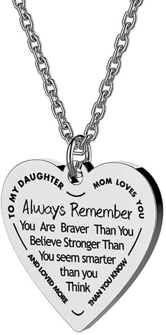 Image of Than You Believe. Heart Pendant|Daughter Pendant