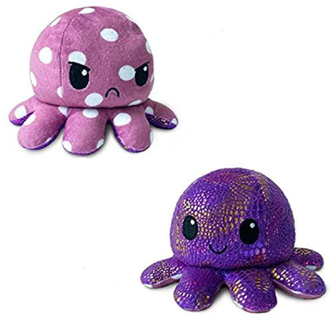 Image of Reversible Octopus Plushie,Octopus Plushie|Show Your Mood Without Saying a Word!