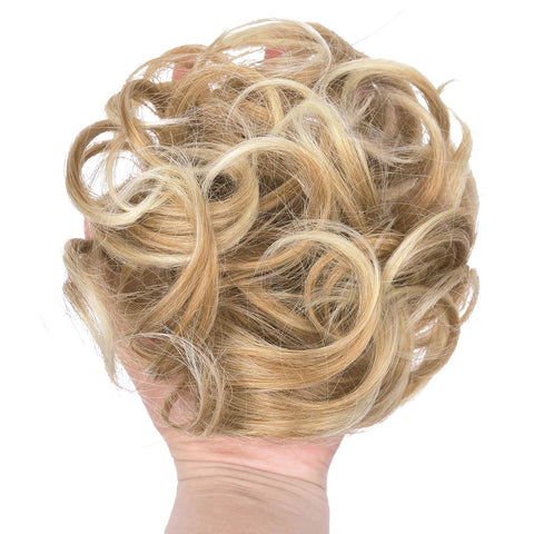 Image of Stylish Hair Scrunchies Hair Buns Extensions Wrap Ponytail Updos