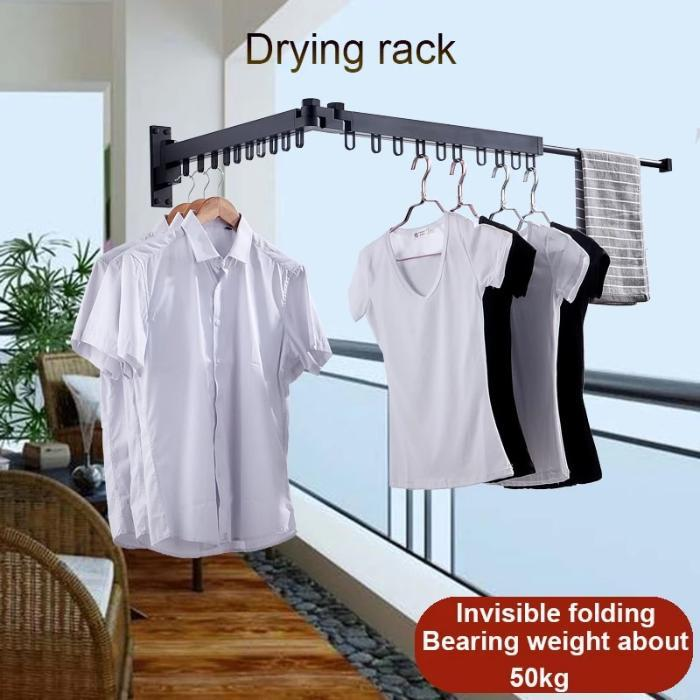 Foldable and Retractable Clothes Drying Racks - full