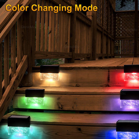 Image of Outdoor Solar Deck Lights Super Bright 2020 Best Decoration - full